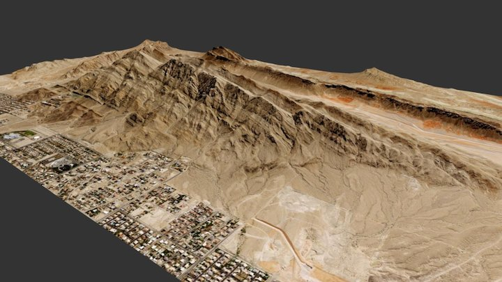 Frenchman Mountain, NV 3D Model