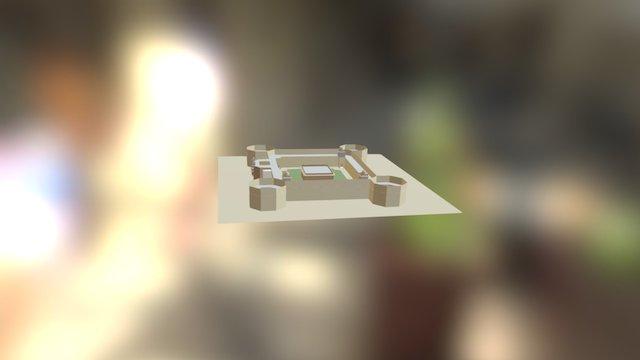 Akabar Kila Ajmer India 3D Model