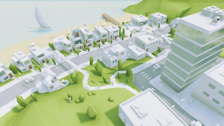 Bright city 3D Model
