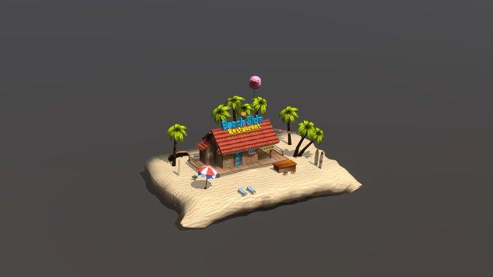 Beach House Set 3D Model