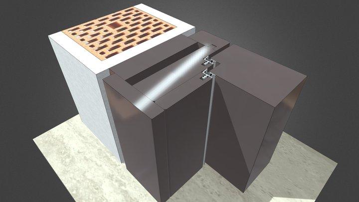 Innentürelement T56 flächig mit Blindstock 3D Model