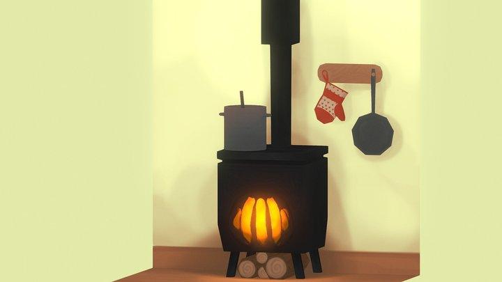 Old school oven 3D Model