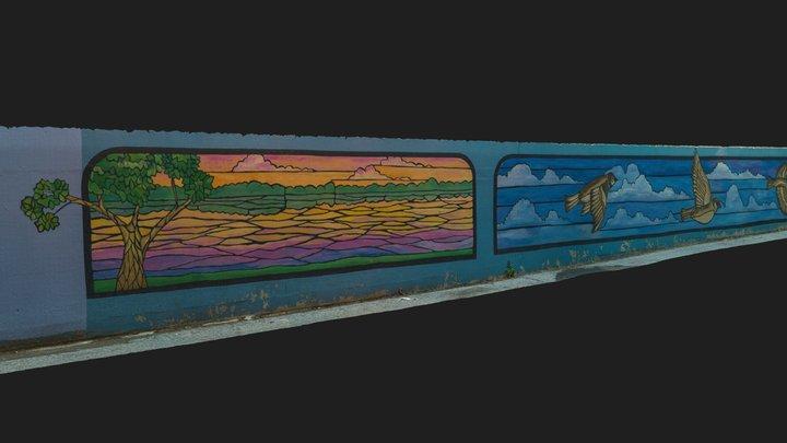 Nature Views Mural 3D Model