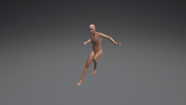 Male Drawing Poses 002 (Average) 3D Model