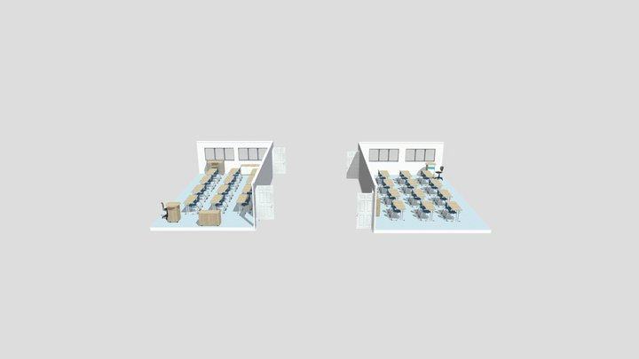 Yew Chung Shanghai - GBC Building Schematic Room 3D Model
