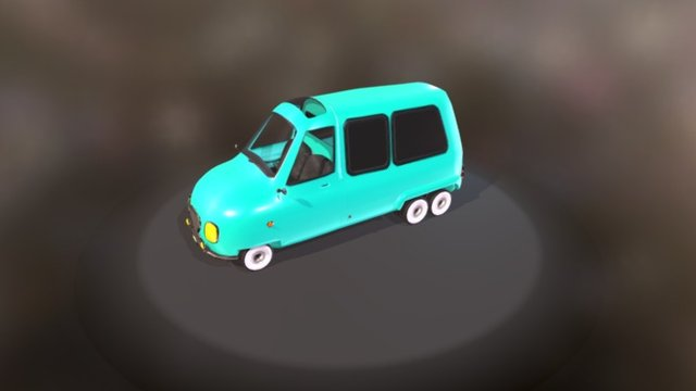 PickUp Van Base 3D Model