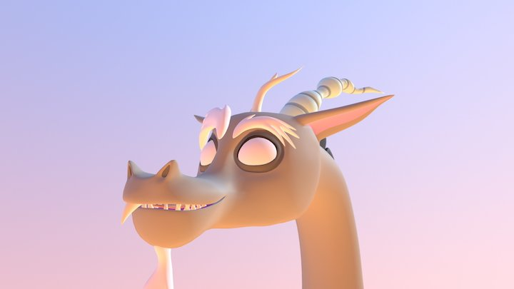 cute furry dragon 3D Model