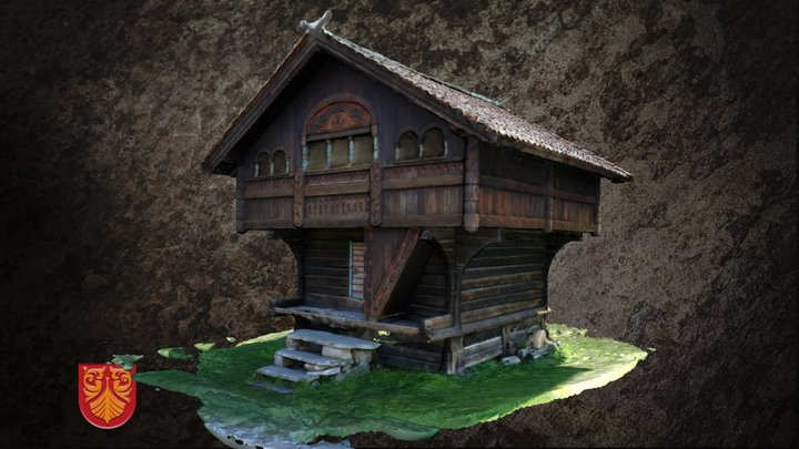 Stabbur fra Evju bygdetun 3D Model