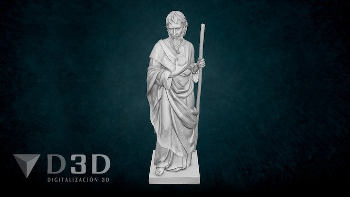 San Judas Tadeo 3D Model