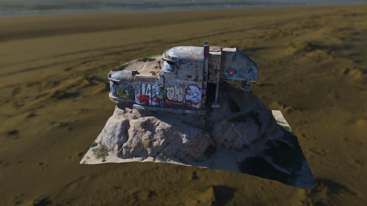 Graffitied bunker 3D Model