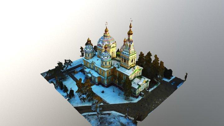 Catedral ortodoxa, Almaty, Kazakhstan 3D Model