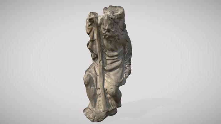 Szent Kristóf szobor (Kesztölc-Klastrompuszta) 3D Model