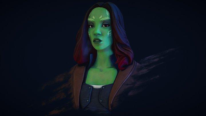 Gamora 3D Model