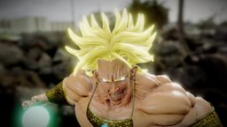 Broly from DragonBall 3D Model