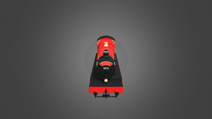 Hogwarts Express - the Jacobite steam train. 3D Model