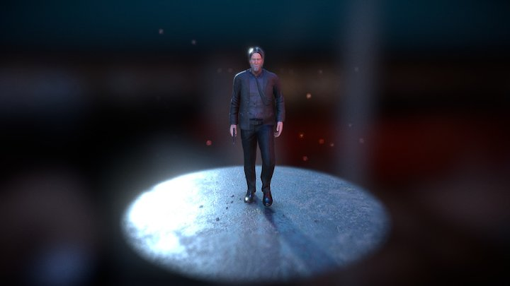 John Wick 3D Model