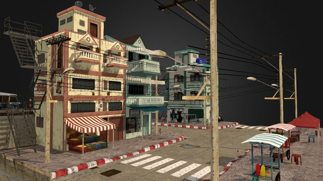 Bangkok Cityscene 3D Model