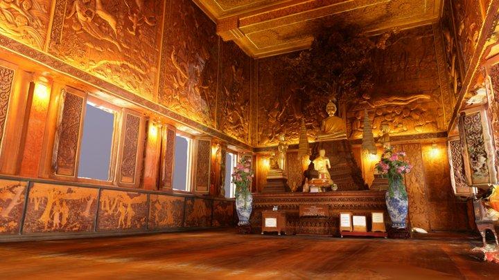 Bangkaenoi Temple Interior 3D Model