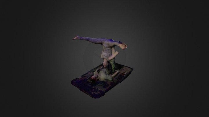 Straddleback Pose 3D Model