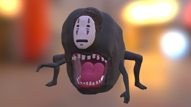 Spirited Away: No-Face Monster 3D Model