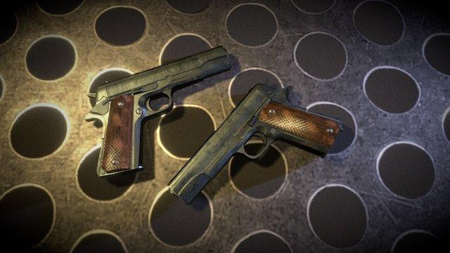 M1911 Pistol - World War Object 3D Model
