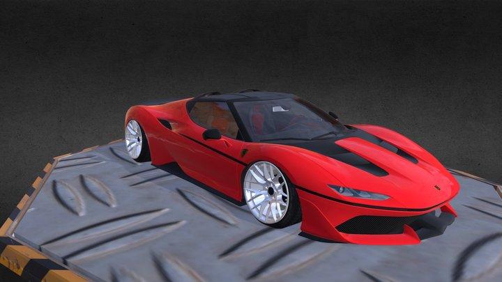 Ferrari J50 2017 3D Model