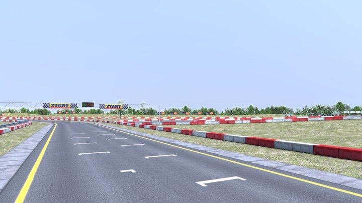 Racing Track 3D Model
