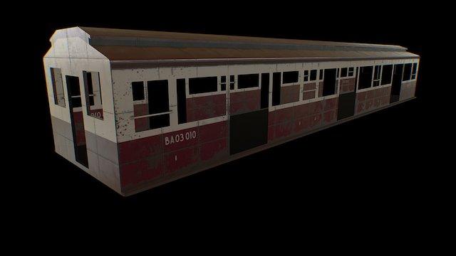 subway train exterior 3D Model