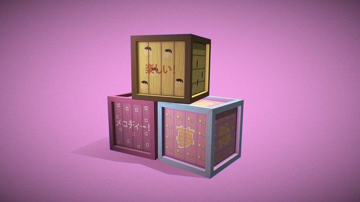 Sanrio Crates 3D Model
