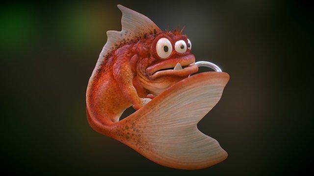 Evil Fish 3D Model