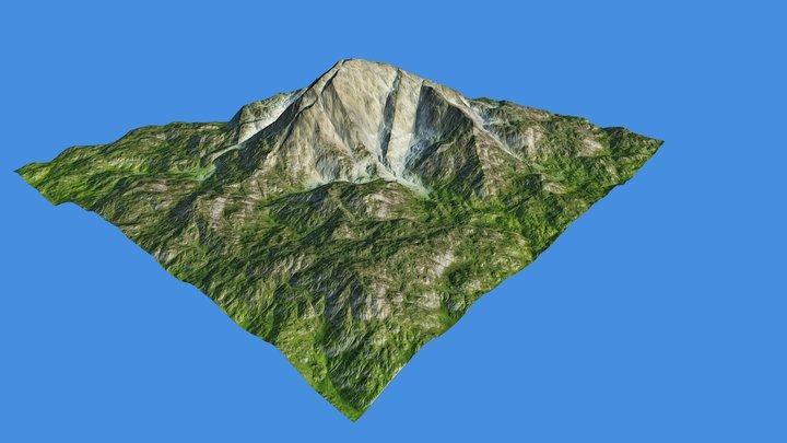 Green mountain/terrain 3D Model