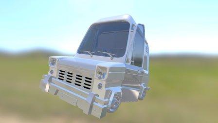 Stylized Ford Transit (from short film; Fragile) 3D Model