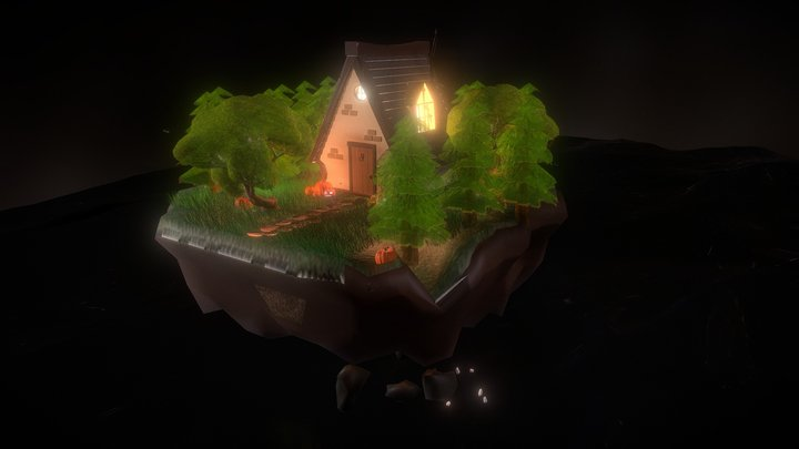 The Enchanted Forest low-poly isometric 3D Model