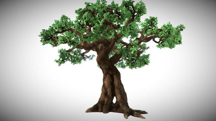 Minecraft Giant Oak Tree 3D Model
