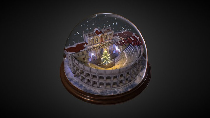 Christmas Roman Theater 3D Model