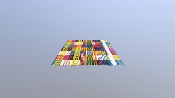Colorful Rug 1 3D Model