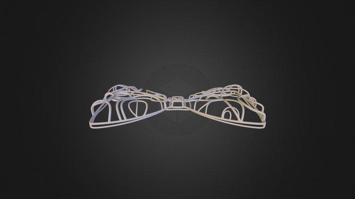 Gallifreyan Inspired Bow Tie 3D Model
