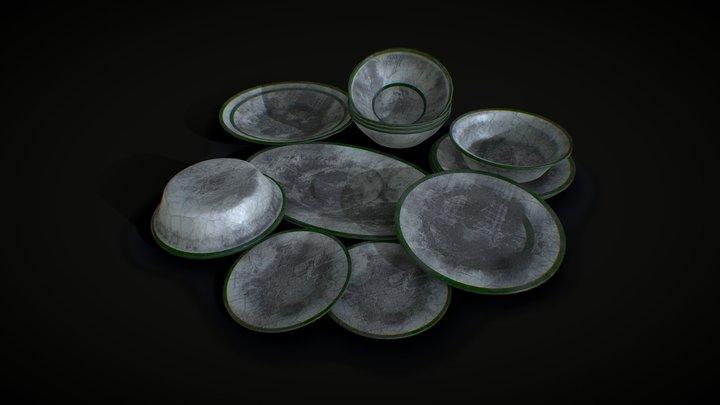 abandoned crockery 3D Model