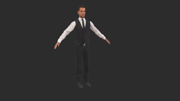 Eric Rigged 001 - Rigged 3D Business Man 3D Model