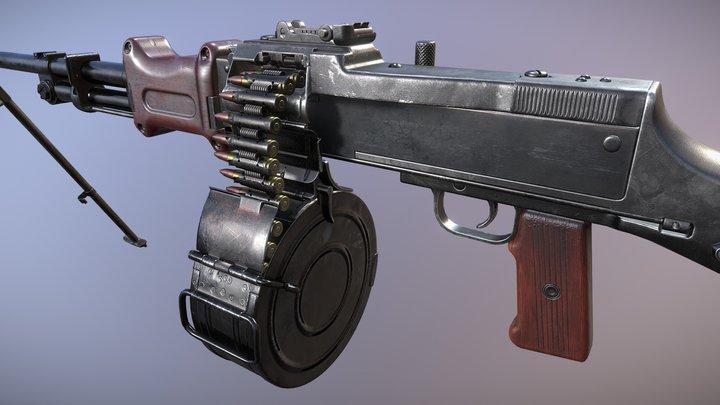 RPD Light Machine Gun 3D Model
