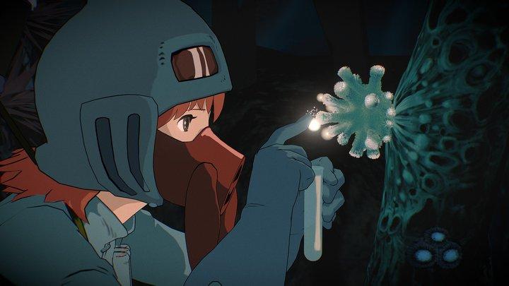 Nausicaa in Toxic Jungle 3D Model
