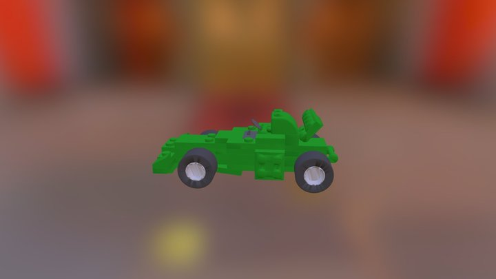 New Lego Car Assembly 3D Model