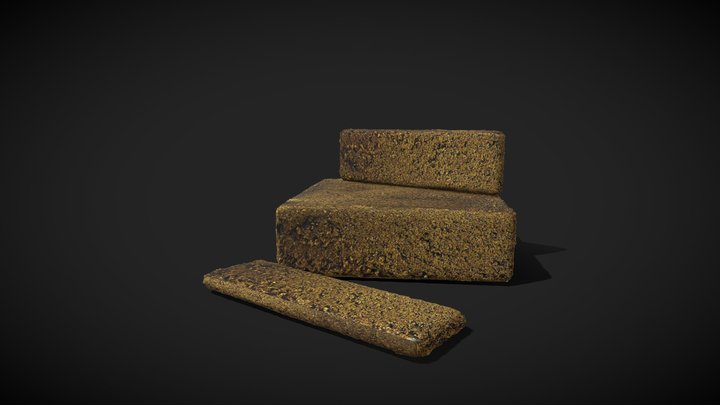 Haschich Block and Barettes 3D Model
