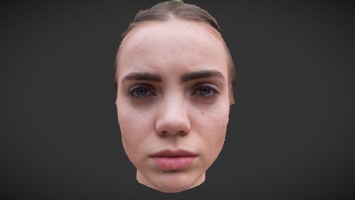 Girl_head_test 3D Model