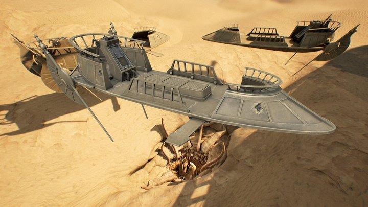 Desert Skiff 3D Model