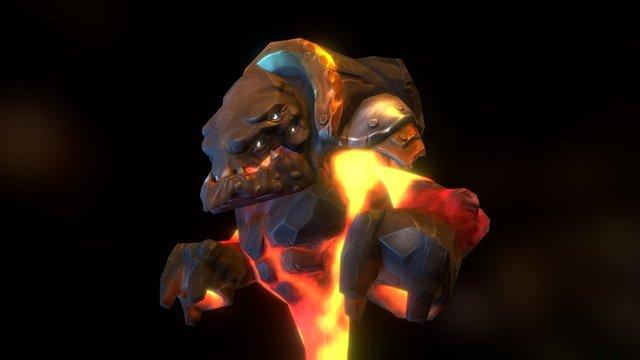 DOTA2 - Invoker's Skilful Revived Forge Spirits 3D Model