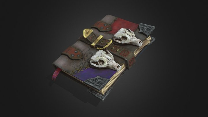 Necromancer book 3D Model
