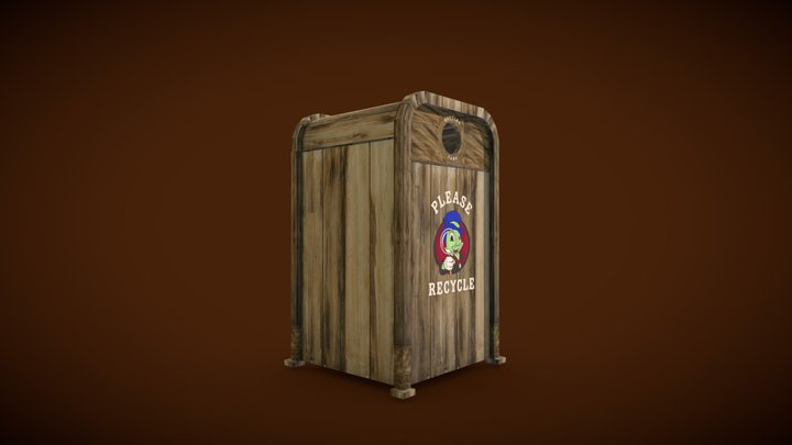 Critter Country Recycle Bin