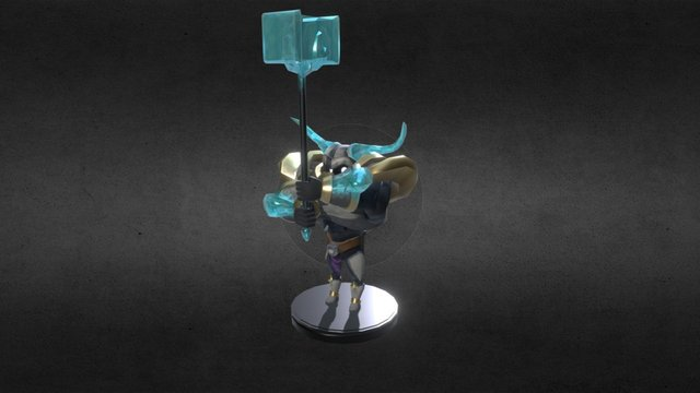 BYU Game 2015: Vanguards - Frost Knight Rig 3D Model