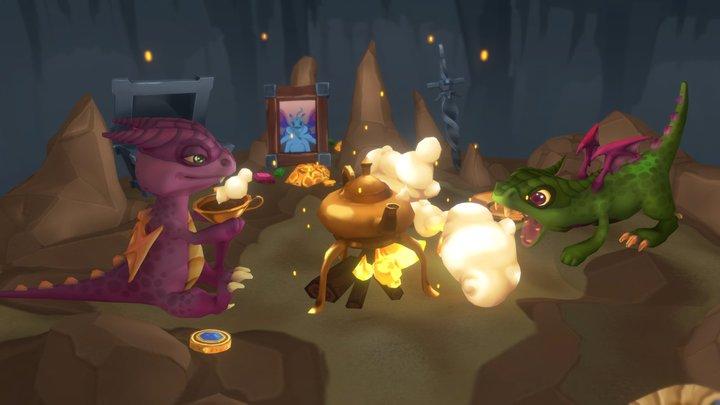 Cave party 3D Model